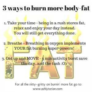 burn fat, fat, exercise, slow down, breathe,  taichi, yoga